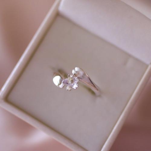 [四季] 受注製作 アコヤ真珠のさくらリング