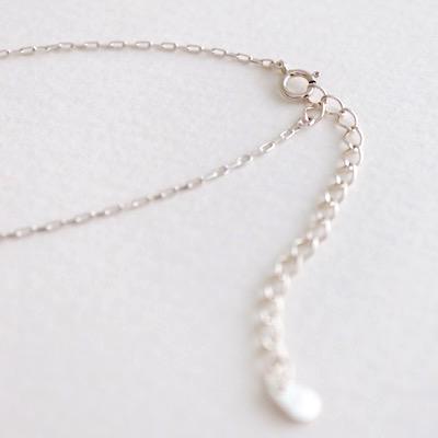 Hi-Bi 白蝶貝×水晶 ダブレット ネックレス