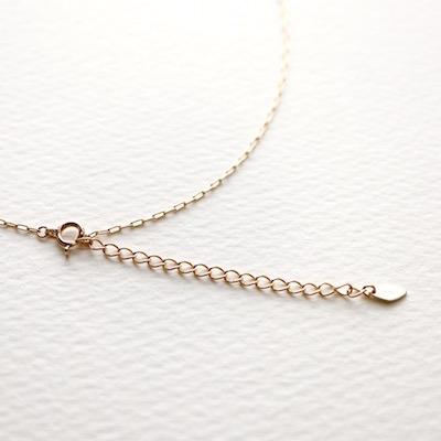 Hi-Bi 白蝶貝×水晶 ダブレット ネックレス K10