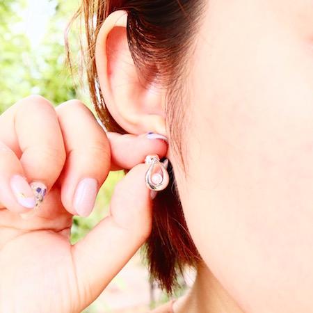 [四季6] アコヤ真珠のドロップピアス