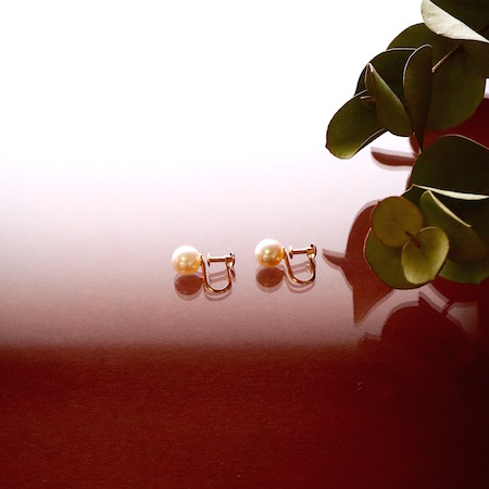 Sot.to K18YG 7mmアコヤ真珠の一粒イヤリング