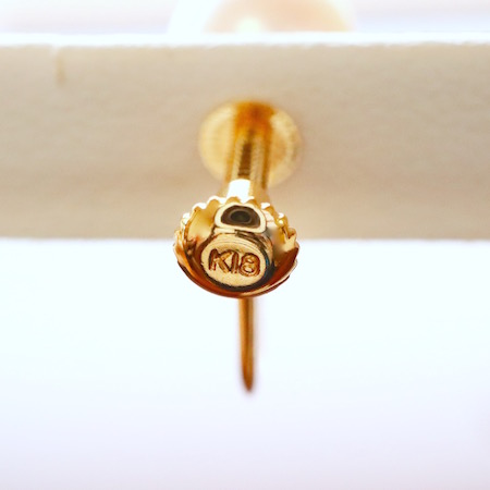 Sot.to K18YG 7mmアコヤ真珠の一粒ピアス(またはイヤリング)&ネックレスセット