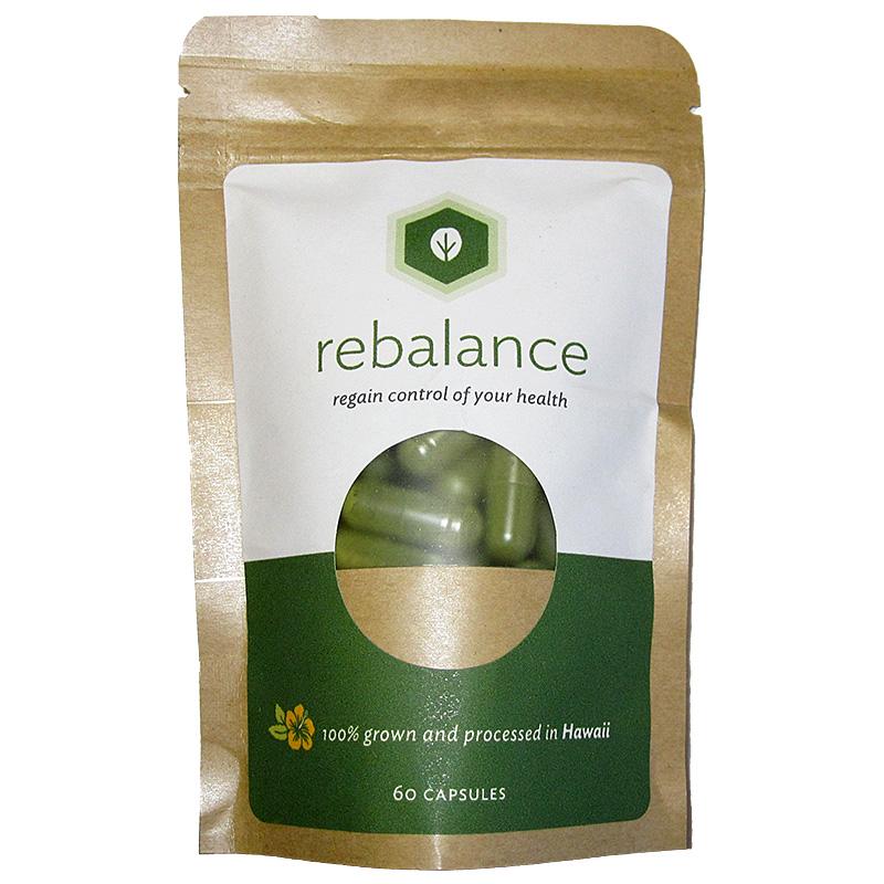 リバランス・モリンガ120カプセル(Rebalance Organic Moringa leaf powder capsule)