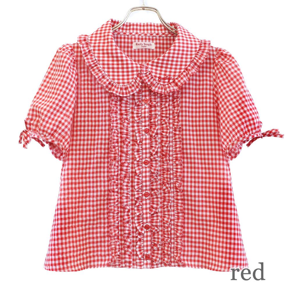 ギンガムブラウス (Gingham blouse)