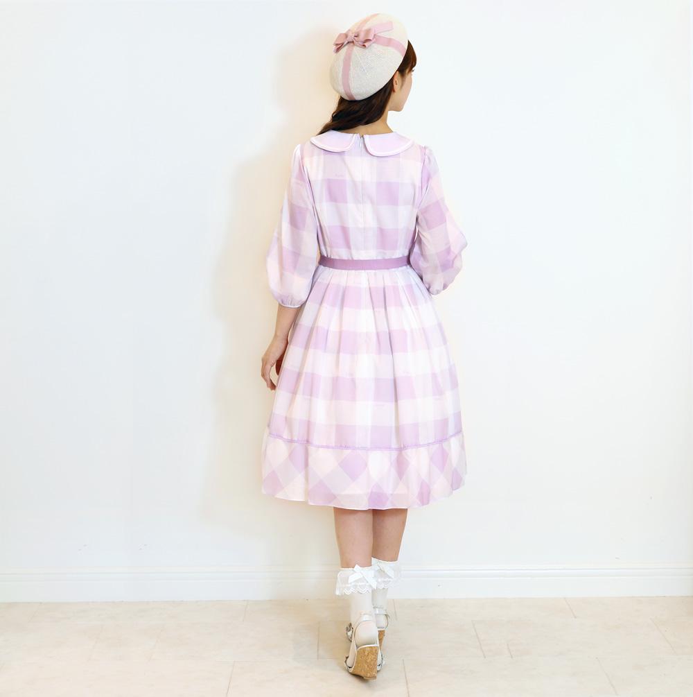 Emilyブロックチェック ワンピース(Emily Block check dress)