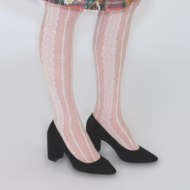 ストライプレースニーソックス (Stripe lace knee Socks)
