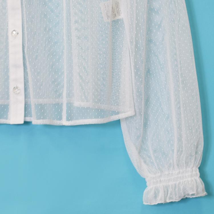ドットチュールブラウス(Dot tulle blouse)