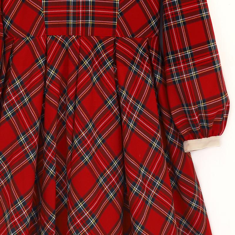 British タータン  ワンピース(British tartan dress)