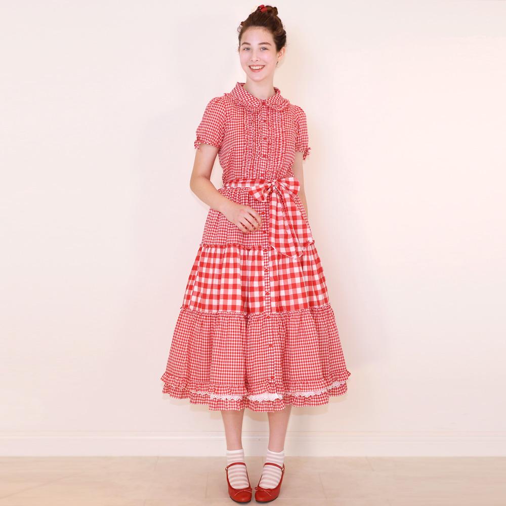 ツインギンガム ロングスカート (Twin gingham skirt)