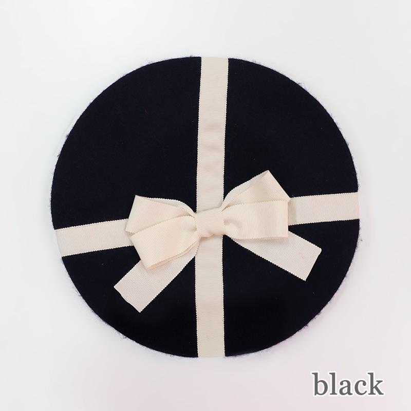 プレゼントリボンベレー(Present ribbon beret)
