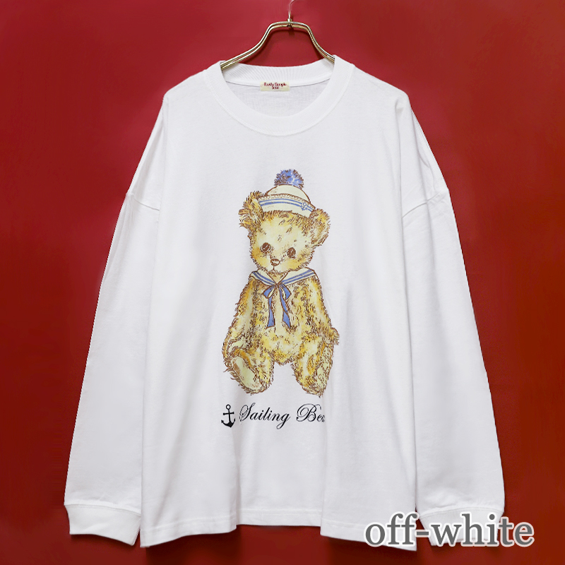 セーリングベア Long sleeve BIG Tシャツ (Sailing  bear Long sleeve BIG T-shirt)