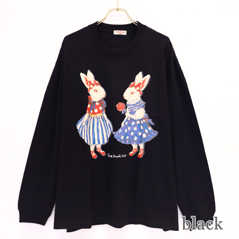 Favorite bunny Long sleeve BIG Tシャツ (Favorite bunny Long sleeve BIG T-shirt)
