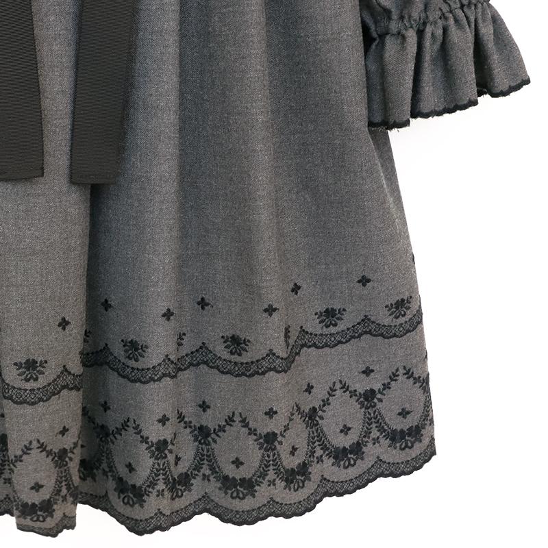 カットワーク刺繍ワンピース(Cutwork dress)