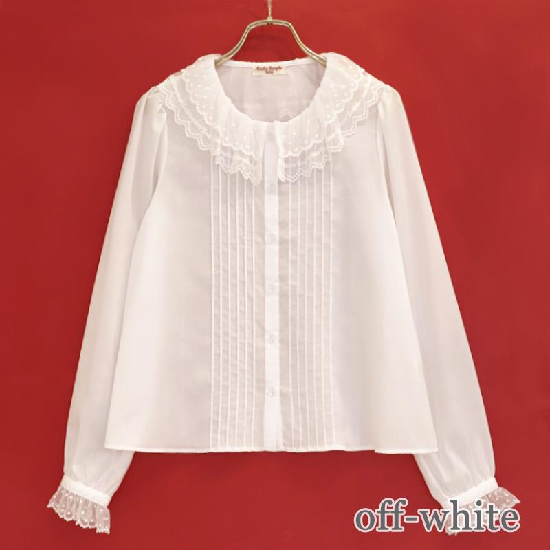 ロゴレースカラーブラウス(logo lace blouse)