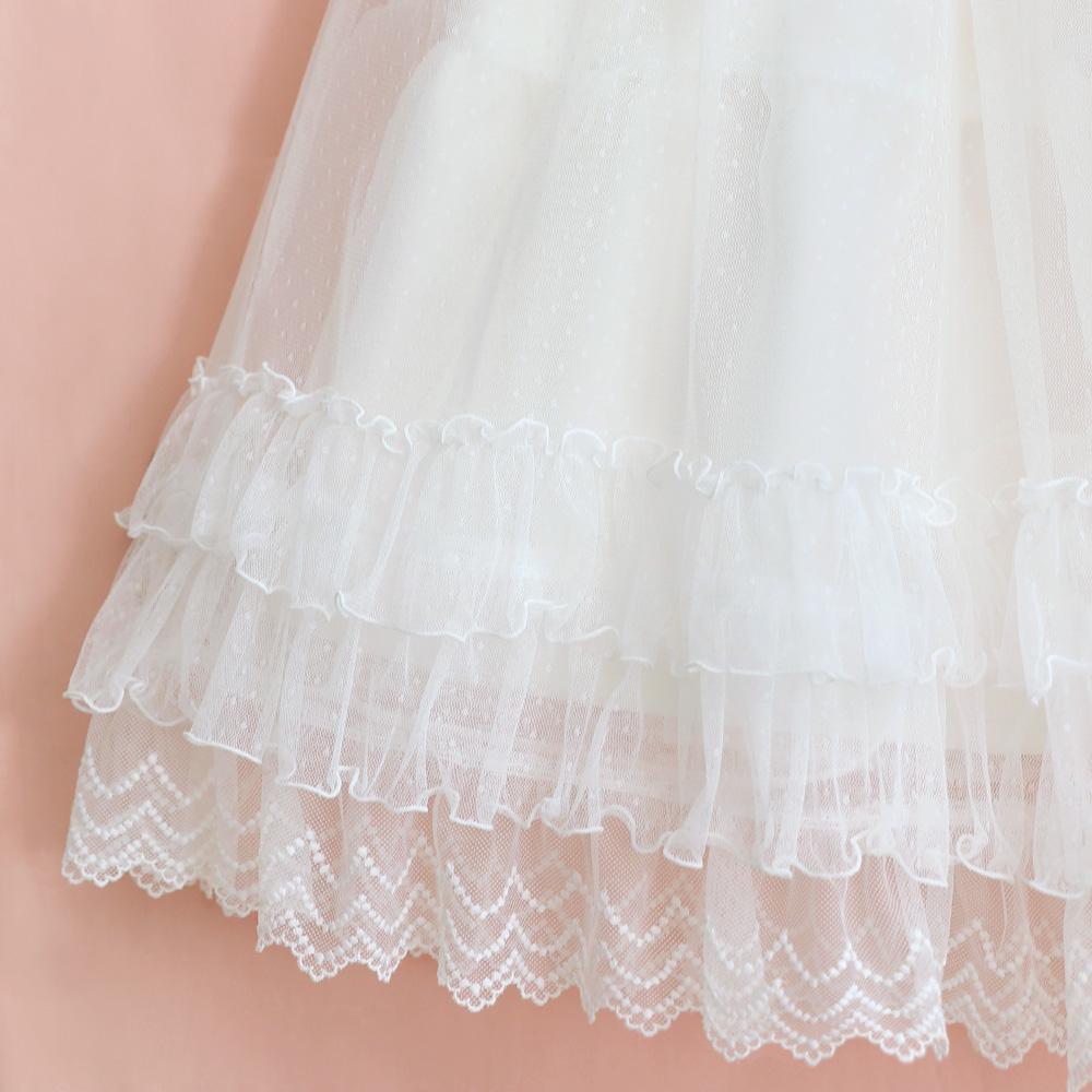 ドットチュールロングペチコート (Dot tulle long lace petticoat)