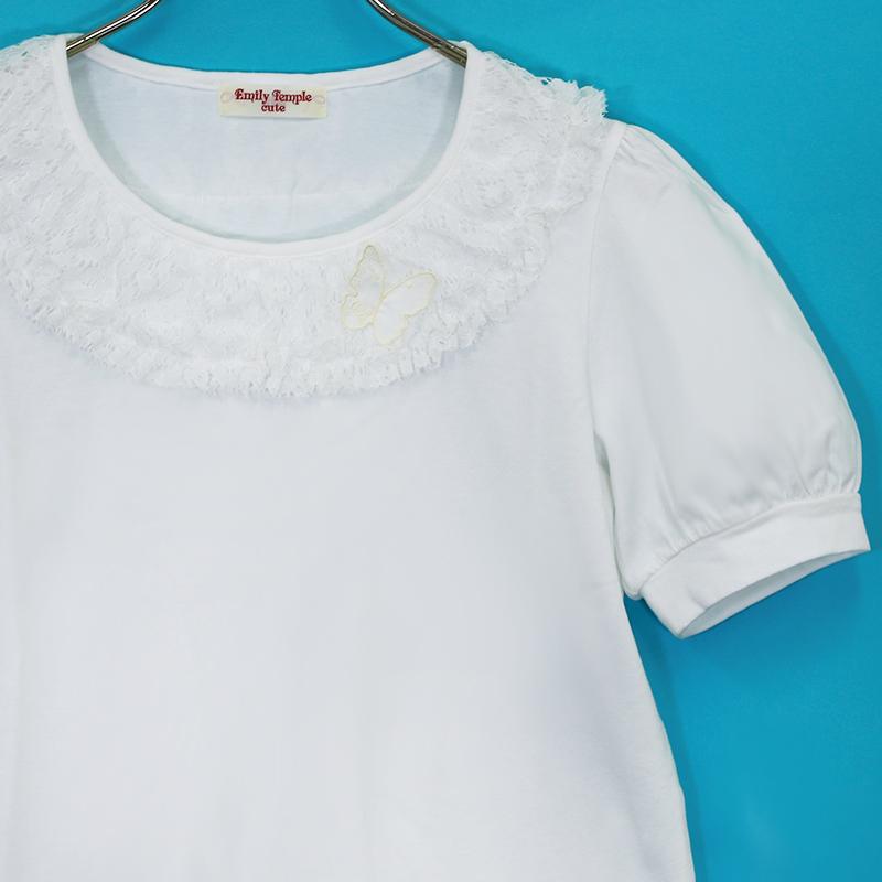 Sleepレースパフスリーブカットソー (Sleep Lace puff sleeve Cut&sewn)