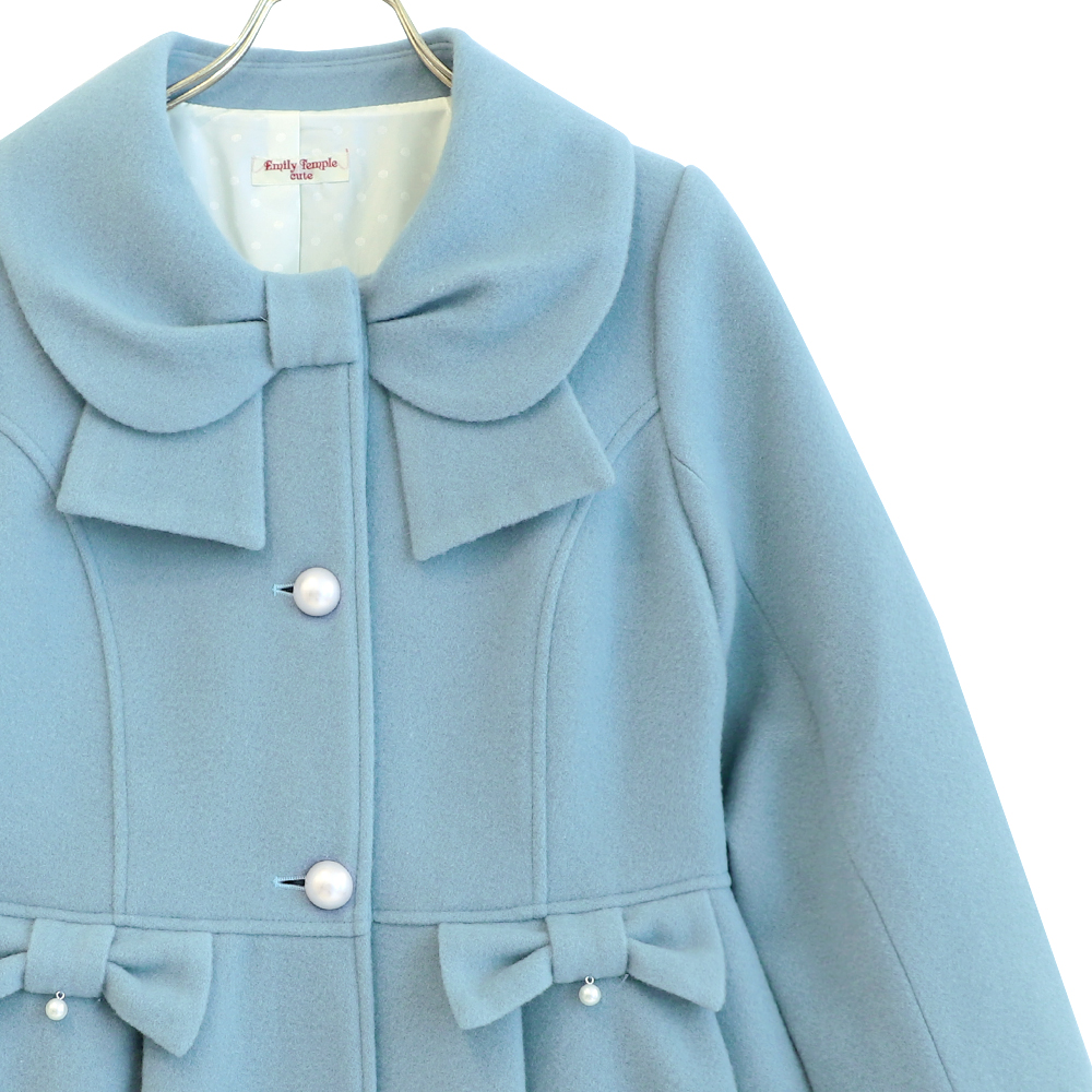 リボンカラーコート(Ribbon collar coat)