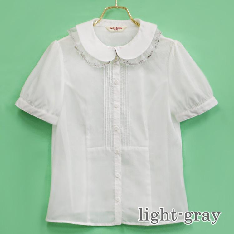 ロゴカラーブラウス (logo collar blouse)