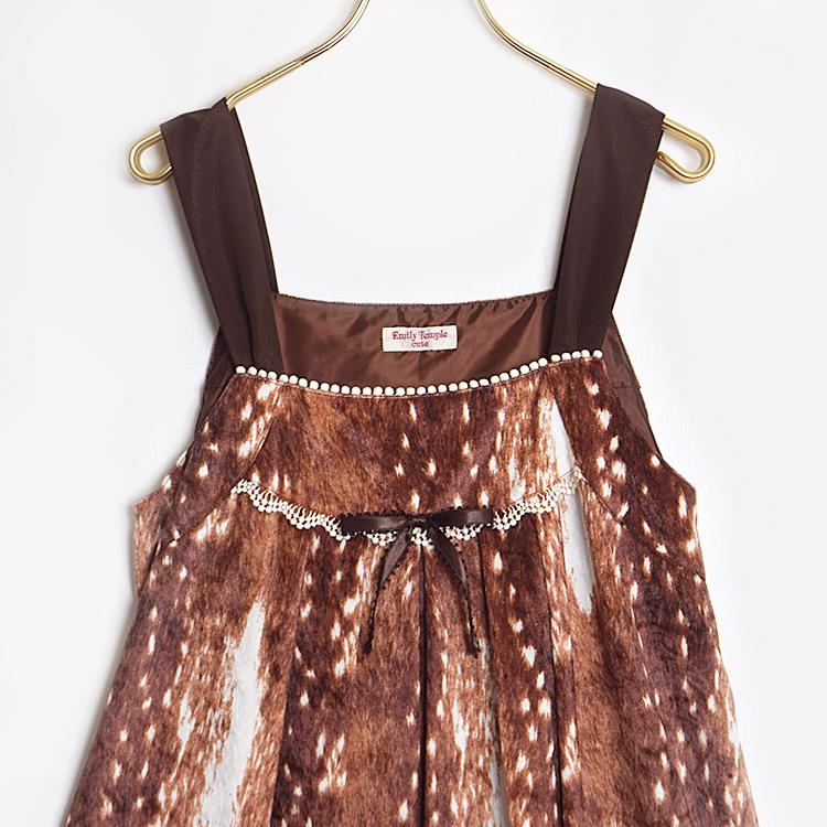 Fawn Furベロアワンピース(Fawn Fur velours dress)