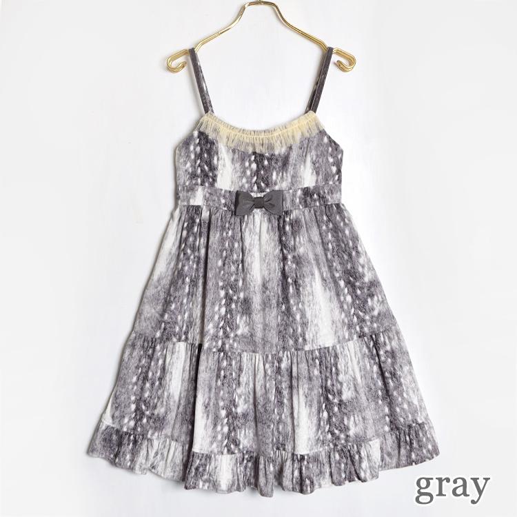 Fawn Furベロアキャミワンピース(Fawn Fur velours camisole dress)