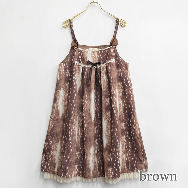 Funny Fawnノースリーブワンピース(Funny Fawn sleeveless dress)