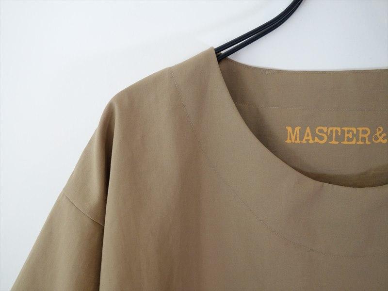 MASTER & Co. マスターアンドコー/ コットンリネンバウンスウェザークロスプルオーバー(Euphonica別注)/ ベージュ