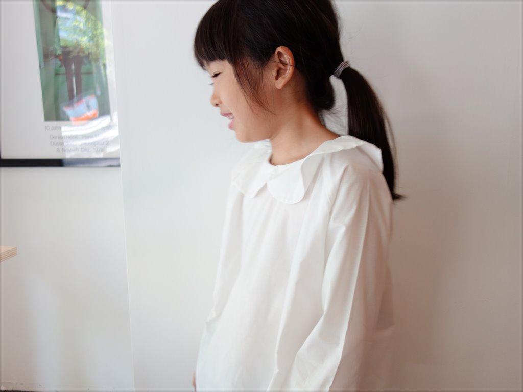 AS WE GROW アズウィーグロウ/ Peter Pan Shirts/ ホワイト