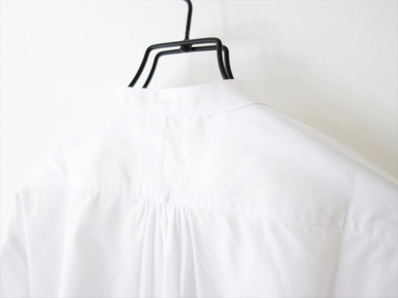 Handwerker ASEEDONCLOUD ハンドベーカー/ HW collarless shirt/ ホワイト