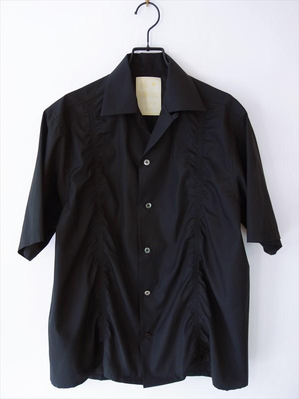 KIMURA キムラ/ 20needles/CUBA shirt HS/ ブラック