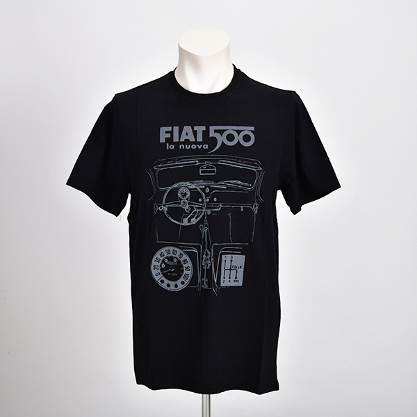 NUOVA 500 グラフィック Tシャツ(ブラック)(Sサイズ)