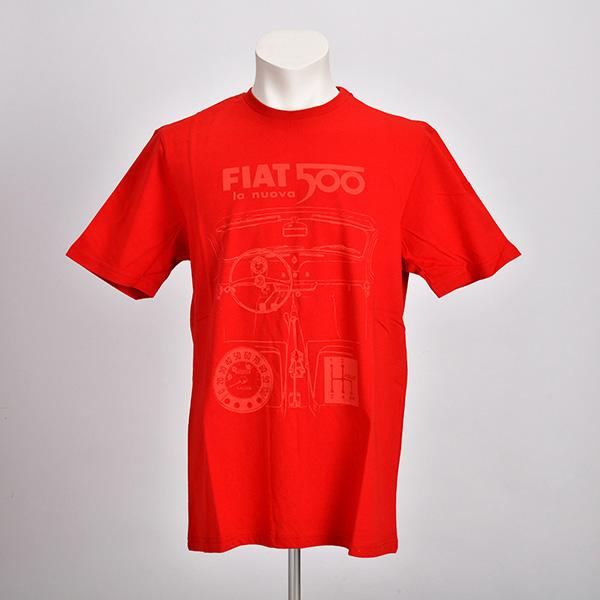 NUOVA 500 グラフィック Tシャツ(レッド)(Mサイズ)