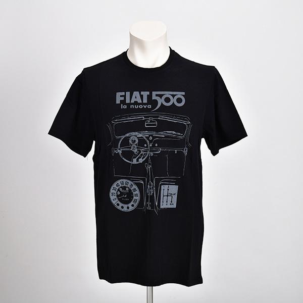 NUOVA 500 グラフィック Tシャツ(ブラック)(Lサイズ)