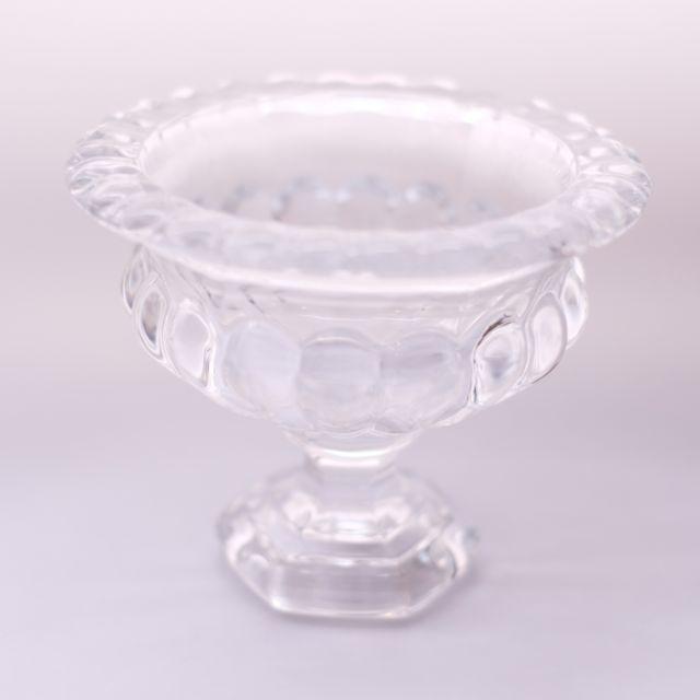 クリアガラス エレガントフラワーベース