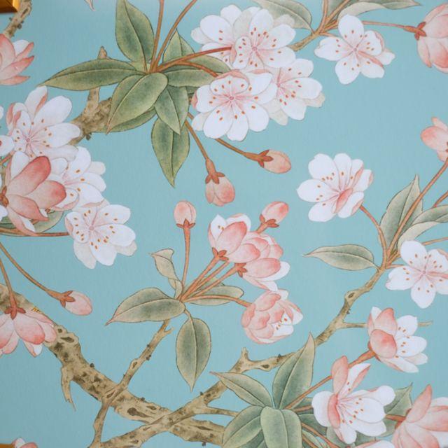 シノワズリ Cherry Blossoms アートパネル  80cm