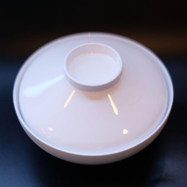 日本製 越前塗 平富士吸物椀 ホワイト