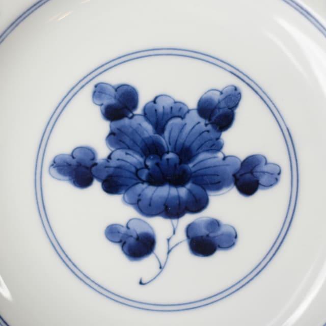 次回10月初旬入荷予定 濃牡丹 19.5cm 花割皿