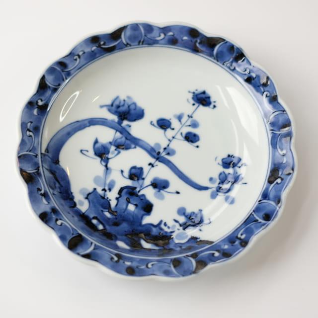 岩草花 19.5cm 花割皿