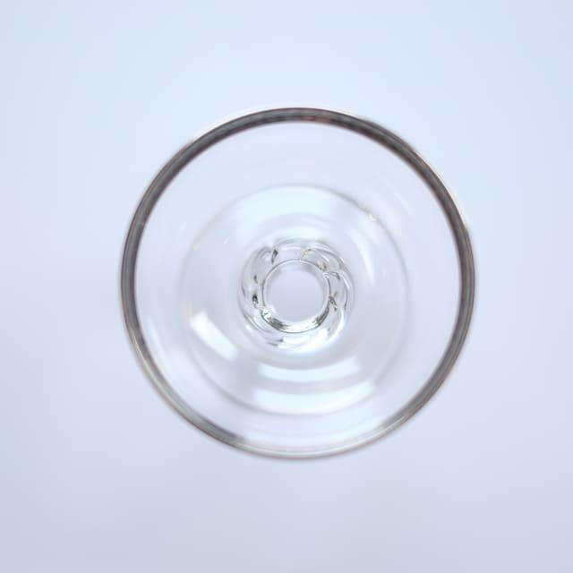 ガラスアミューズカップ銀 唐草