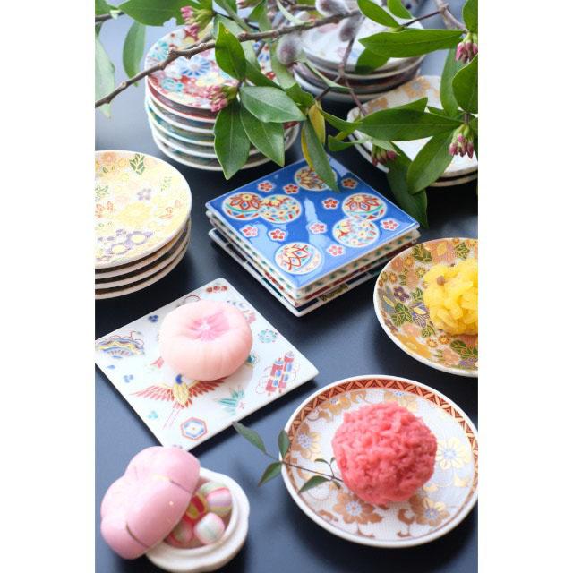 九谷焼 花詰  小皿