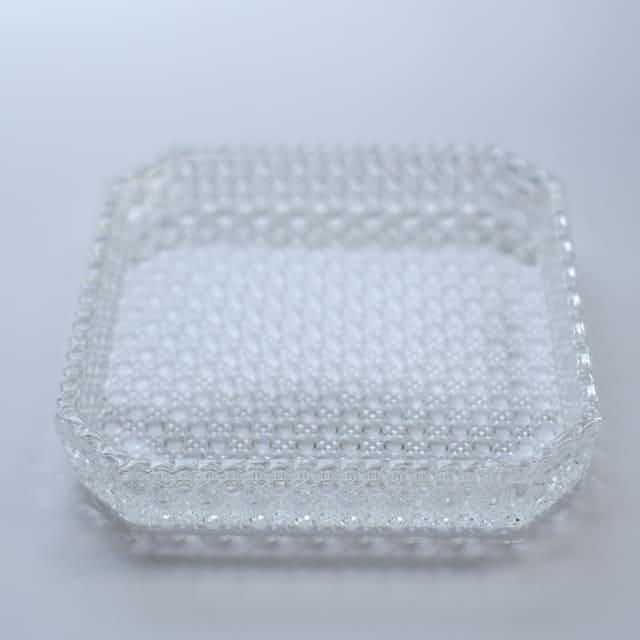 籠目 ガラス八寸皿