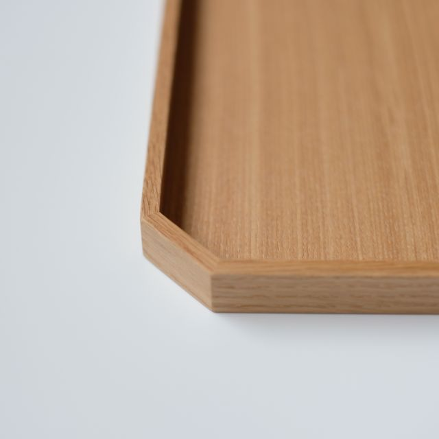 白木塗タモ 11.0 隅切盆