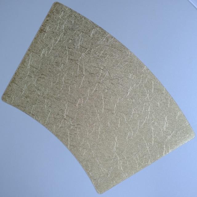 扇型 和紙風 ゴールドプレイスマット