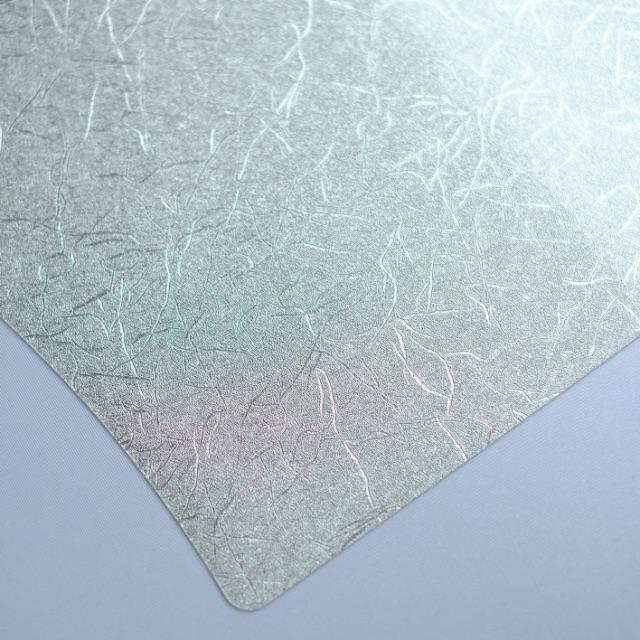 扇型 和紙風 シルバープレイスマット