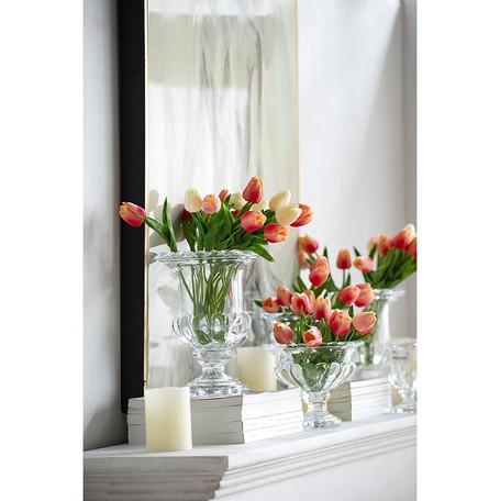 クリアガラス エレガントフラワーベース ショートサイズ