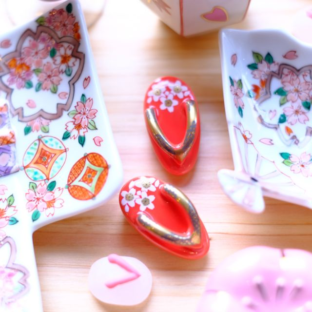 有田焼 ミニお草履 (桜)