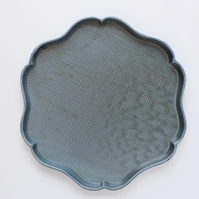 稜花皿 (大) 青