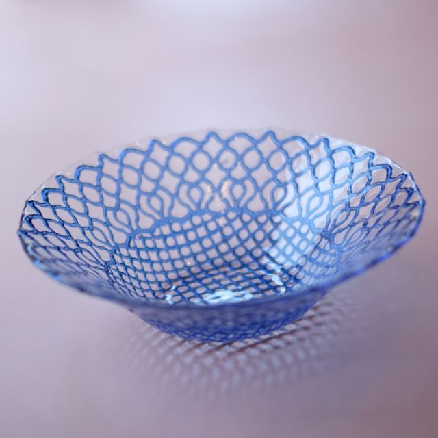 《2点セット》 モロッカン柄 ボール ブルー 21cm