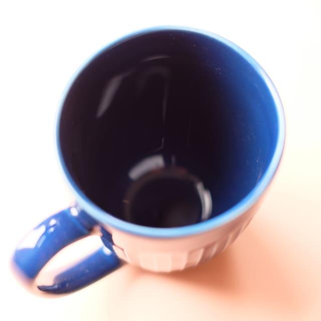 波佐見焼 ルリ釉 しのぎ マグカップ