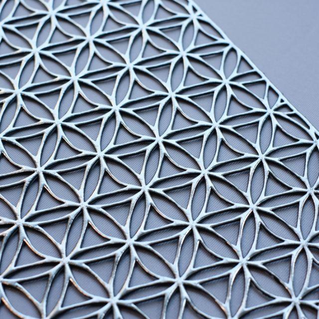 八角形 七宝模様シルバープレイスマット