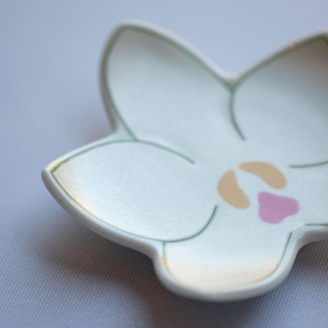 有田焼 錦銀彩和蘭形小皿